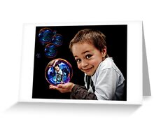 Bubble Boy Greeting Card