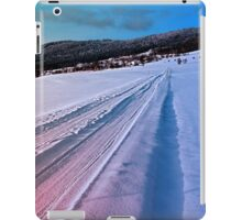 Path up to the mountains in winter time | landscape photography iPad Case/Skin