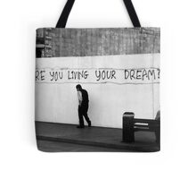 Living (in mono) Tote Bag