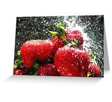 Strawberry Splatter Greeting Card