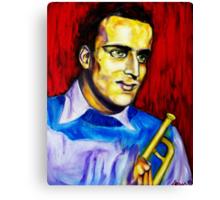 Portrait of Boris Vian Canvas Print