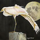 Moon Over Mississippi A Snowy Egrets Perspective by Phyllis Beiser