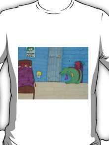 """The dogolosaurus monster [""""Monsters are real.""""] T-Shirt"""