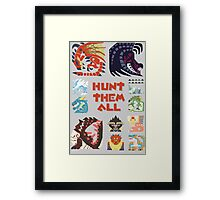 MONSTER HUNTER 4 - HUNT THEM ALL Framed Print