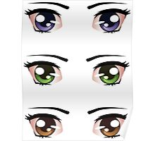 Cartoon female eyes 5 Poster