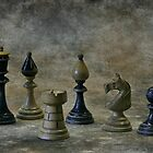 old chess figures by danapace