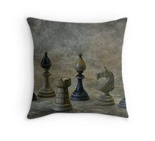 old chess figures Throw Pillow