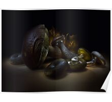 Gifts of september - lightpainted still life Poster