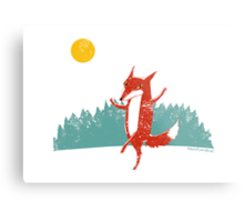 Dancing Fox Metal Print