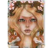 Solstice fox woman portrait iPad Case/Skin