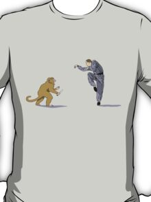 Monkey Fu with Knife (detail) T-Shirt