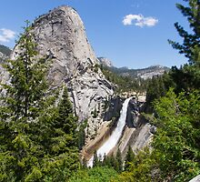 Nevada Falls and Liberty Cap by TomGreenPhotos