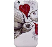 tattoo birds of love art iPhone Case/Skin