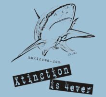 "Shark T-shirt ""Xtinction is forever"" by Carlos Villoch"