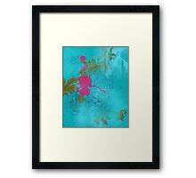 Pink elf in love Framed Print