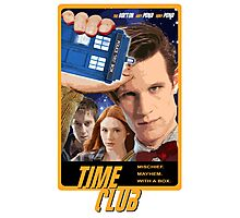 Time Club | Doctor Who | The Eleventh Doctor & Amy Pond & Rory Pond Photographic Print
