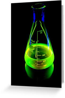 Beaker of  Sodium Fluorescein by Douglas Gaston IV