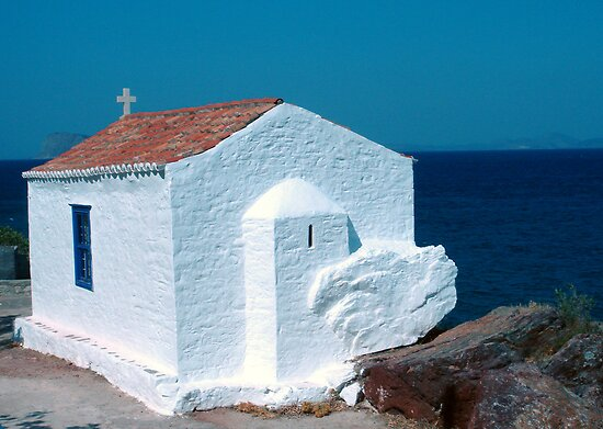 Agios Charalampos Orthodoxe Church, 18th century, Vlychos, Island Of Hydra GR by Bentrouvakis