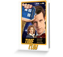 Time Club   Doctor Who   The Eleventh Doctor & River Song Greeting Card