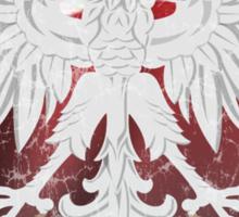 Polish Flag Eagle Heart t shirt Sticker