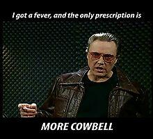 More Cowbell SNL Christopher Walken Shirt by harrisonbrowne