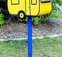 Caravan Mailbox by Marilyn Harris