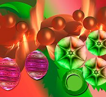 Fractal christmas card by CanDuCreations