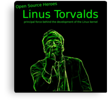 Linux Open Source Heroes - Linus Torvalds Canvas Print