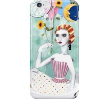 Vintage Blogger in Bathtub iPhone Case/Skin