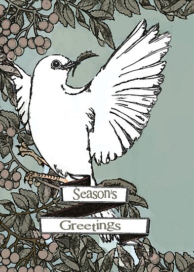 Chritmas Dove Card by blackjack