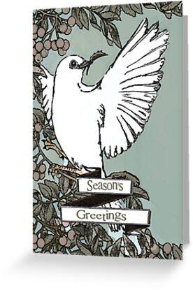Chritmas Dove Card by blackjack