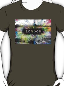London Skyline View Collage  T-Shirt