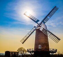 Wilton Windmill Sunset by mlphoto