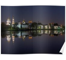Novodevichy Convent - night HDR photo Poster
