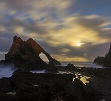 Moonlight over Bow Fiddle Rock by AndyMartin