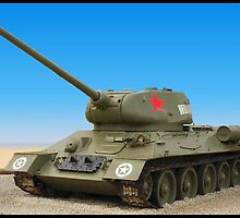 USSR Tank T34/85(photo) by Woodie