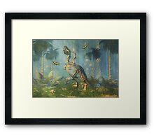 Dinosaur Warrior Framed Print