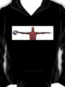 Michael Jordan Nike Wings, Earth Ball Space Jam T-Shirt