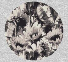 Sunflowers in Soft Sepia Kids Clothes
