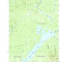 Maine USGS Historical Map Indian Pond North 460493 1988 24000 by wetdryvac