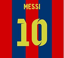 Messi Barcelona Print by seeaykay