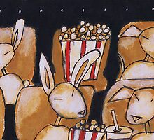 Cashew and Sparky at the movies by Kathy Langlade