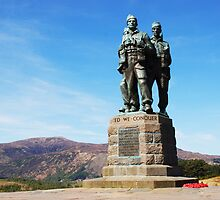 Commando Memorial Spean Bridge by Richard Hanley www.scotland-postcards.com