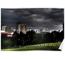 Adelaide from Monefiore Hill lookout. Poster