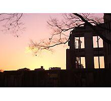 Sunset at the A-Bomb Dome, Hiroshima, Japan Photographic Print