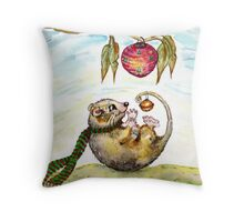 Jingle Possum Bells Throw Pillow