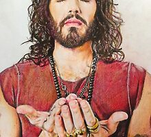 Russell Brand Fan art by Marina Coffey