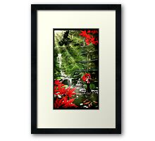 Geisha Garden Framed Print