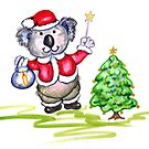 Koala Claus by Lorna Gerard