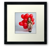 The Red Balloon Project Framed Print